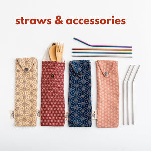 Cutlery/Straw Travel Pouch
