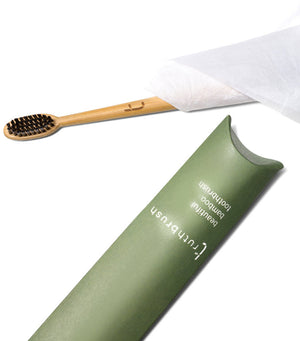 Bamboo Toothbrush - Storm Grey Medium Plant Based Bristles - Truthbrush