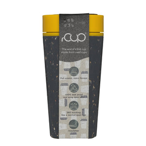 rCUP Reusable 12oz cup black/mustard