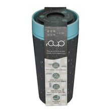 Load image into Gallery viewer, rCUP Recycled Reusable Leak Proof Cup, 12oz/340ml, Black and Teal