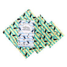 Load image into Gallery viewer, BeeBee Organic Cotton Beeswax Wraps - Puffin (3 mixed sizes pack)