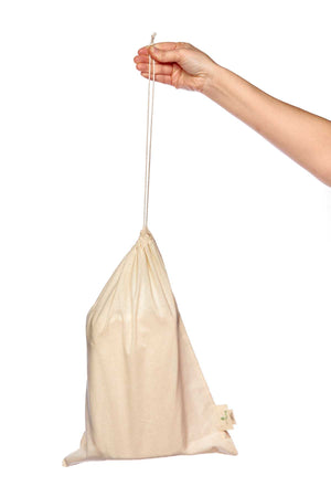 Organic Cotton Drawstring Bread Bag - Eco Living