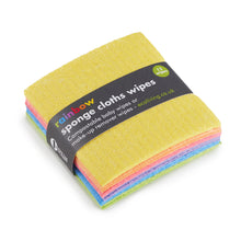 Load image into Gallery viewer, Compostable Rainbow Sponge Cloths Wipes 12 Pack