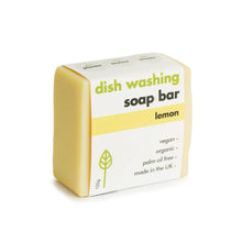 Load image into Gallery viewer, Eco Living Lemon Dish Washing Soap Bar 155g