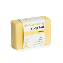 Load image into Gallery viewer, Eco Living Lemon Dish Washing Soap Bar 230g