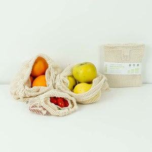 Organic Cotton Mesh Produce Bag (Set of 3) - A Slice of Green