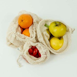Organic Cotton Mesh Produce Bag (Bundle of 3) - A Slice of Green