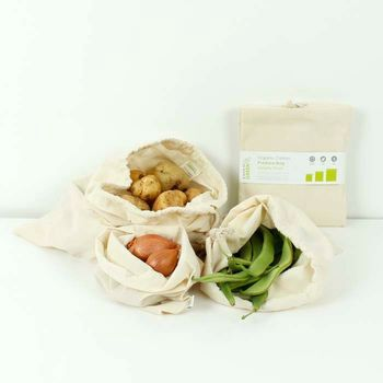 A Slice of Green Organic Cotton Produce Bags Set of 3