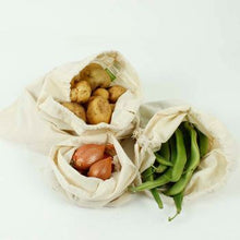 Load image into Gallery viewer, A Slice of Green Organic Cotton Produce Bags Set of 3