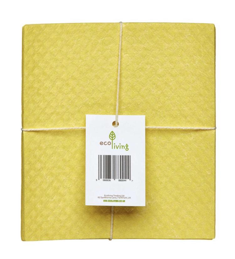 Eco Living Compostable Sponge Cleaning Cloths (4 pack)