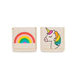 Fluf Reusable Snack Bags Set of 2 Rainbow and Unicorn