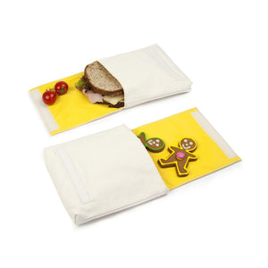Fluf Reusable Snack Bags Set of 2 Open Bags