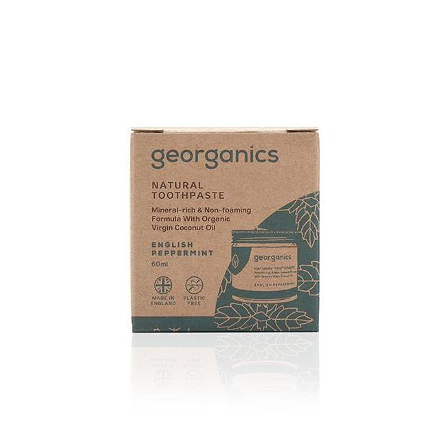 English Peppermint Natural Toothpaste 60ml - Georganics