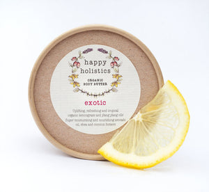 Happy Holistics Organic Body Butter Exotic 100g