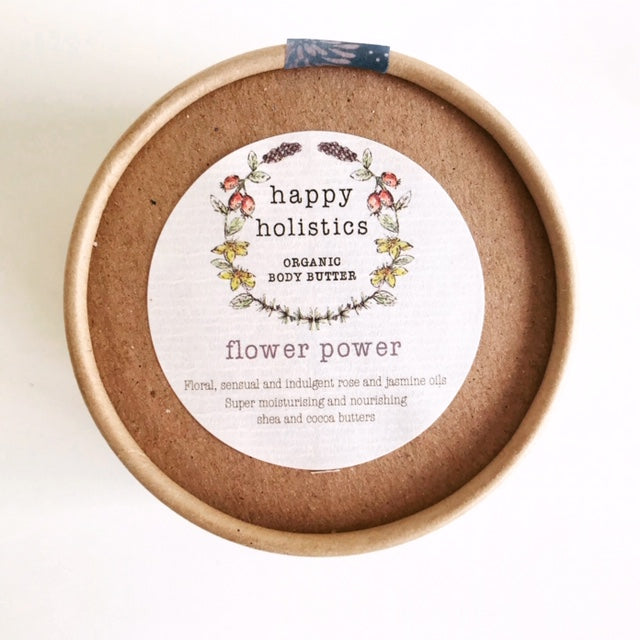 Happy Holistics Organic Body Butter Flower Power 100g