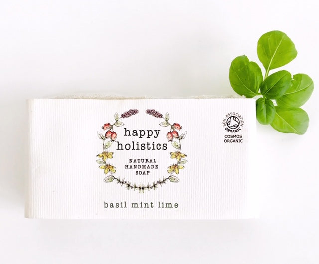 Happy Holistics Basil Mint and Lime Soap 100g