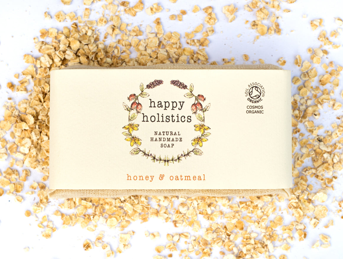 Happy Holistics Honey and Oatmeal Soap 100g