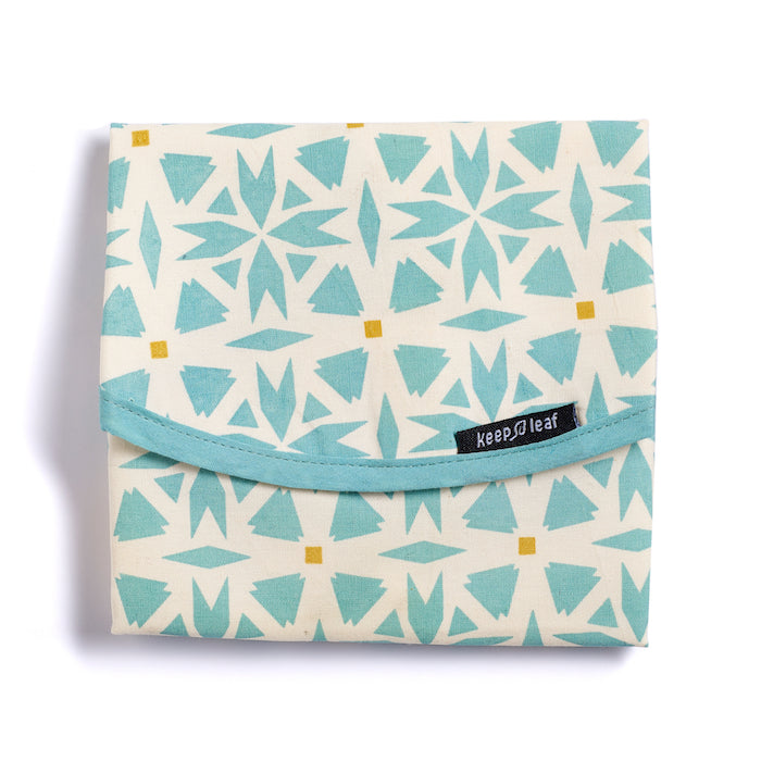 Keep Leaf Geo Print Reusable Cotton Sandwich & Food Wrap