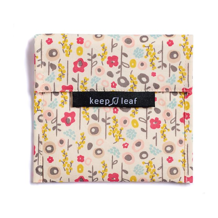 Keep Leaf Large Snack Bag Bloom Flowers Print