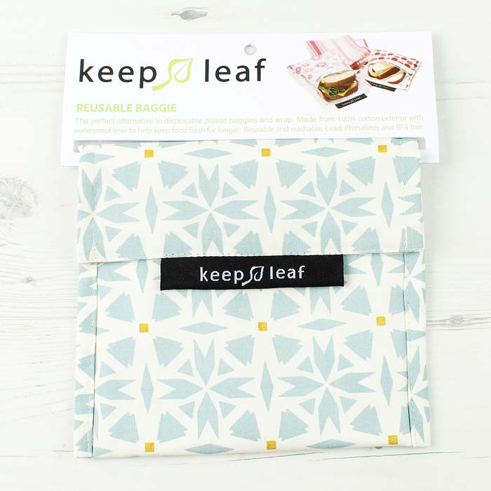 Keep Leaf Geo Print Large Snack Bag