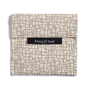 Keep Leaf Grey Mesh Print Large Snack Bag
