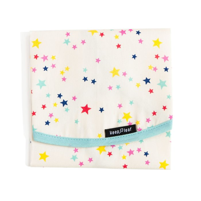 Keep Leaf Stars Print Reusable Cotton Sandwich & Food Wrap