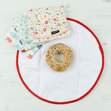 Load image into Gallery viewer, Keep Leaf Reusable Cotton Sandwich & Food Wrap Selection in use
