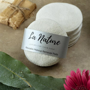Reusable Bamboo Makeup Remover Pads x 8 - La Nature