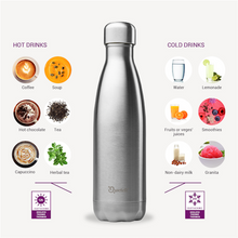 Load image into Gallery viewer, Qwetch Insulated Stainless Steel Bottle 500ml