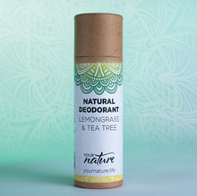 Load image into Gallery viewer, Your Nature Lemongrass and Tea Tree Natural Deodorant Stick 70g