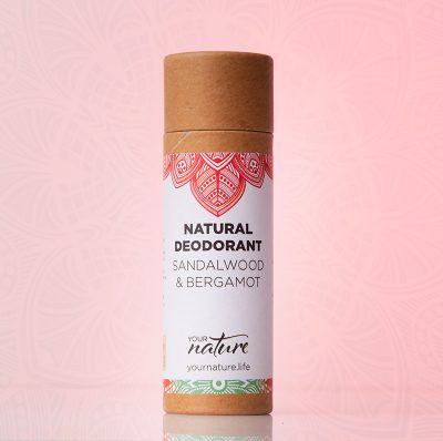 Your Nature Sandalwood and Bergamot Natural Deodorant Stick 70g