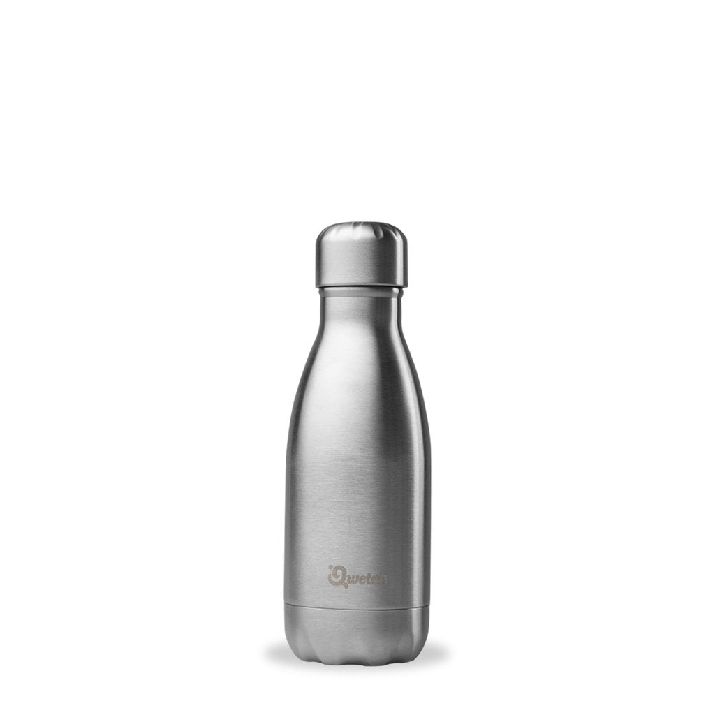 Insulated Brushed Stainless Steel Bottle 260ml - Qwetch