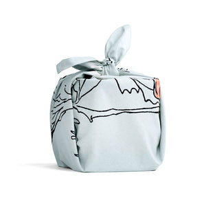 Organic Cotton Reusable Gift / Furoshiki Wrap (Ann) - The Organic Company