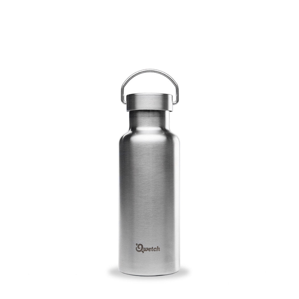 Plastic Free Stainless Steel Bottle 500ml - Qwetch