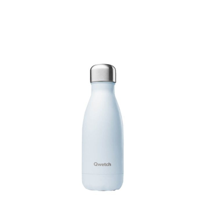 Qwetch Pastel Blue Insulated Stainless Steel Bottle 260ml