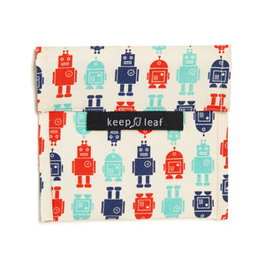 Robots Print Large Snack Bag - Keep Leaf