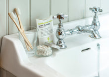 Load image into Gallery viewer, Toothpaste Tablets with Fluoride Refill Bag (125 tablets) - Eco Living in bathroom