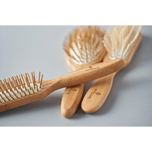 Bamboo Hairbrushes With Wooden Pins  - Eco Living