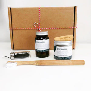Zero Waste Dental Gift Set (Peppermint) - Eco Beau