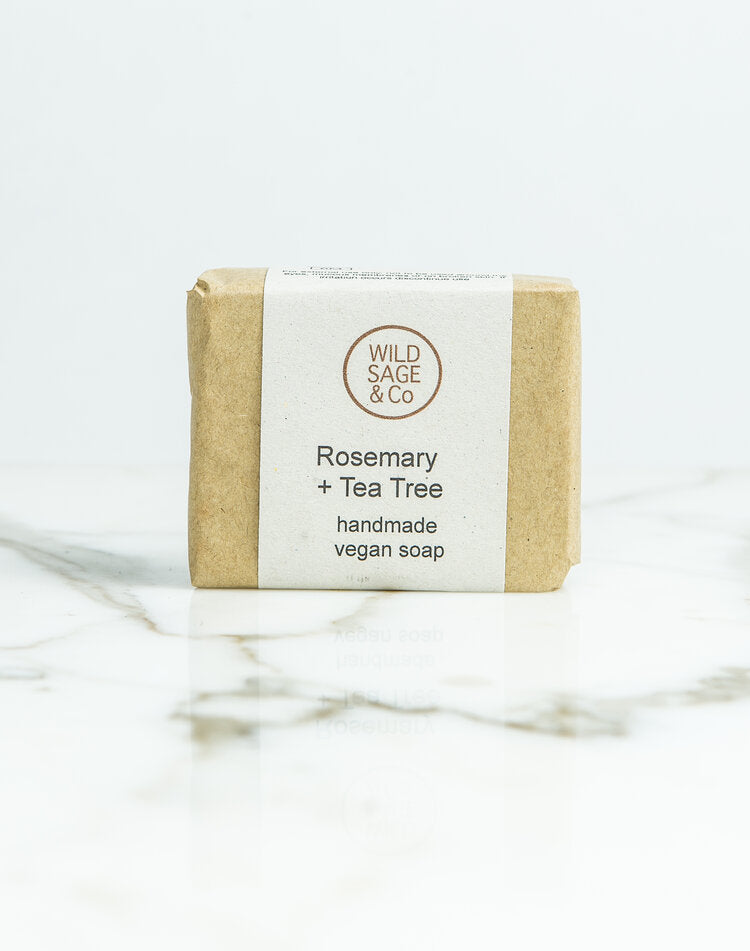 Wild Sage and Co Rosemary and Tea Tree Soap Bar 100g