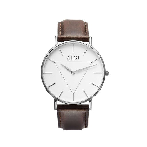 Glacier 36MM Brown Leather - AIGItime