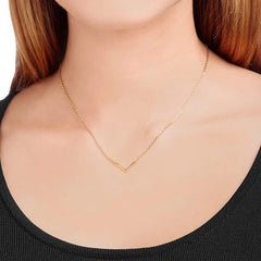 V CHOKER | 18K GOLD PLATED