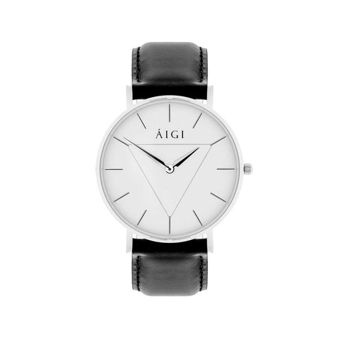 Glacier 36MM Black Leather - AIGItime