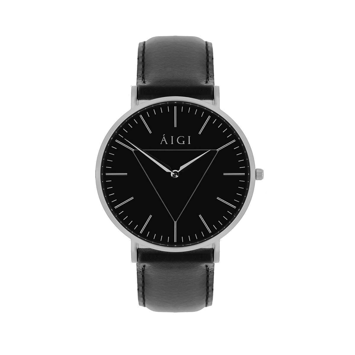 Polaris 40MM Black Leather