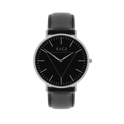 Polaris 40MM Black Leather - AIGItime