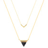 TRIANGLE & V CHOKER | 18K GOLD PLATED - AIGItime