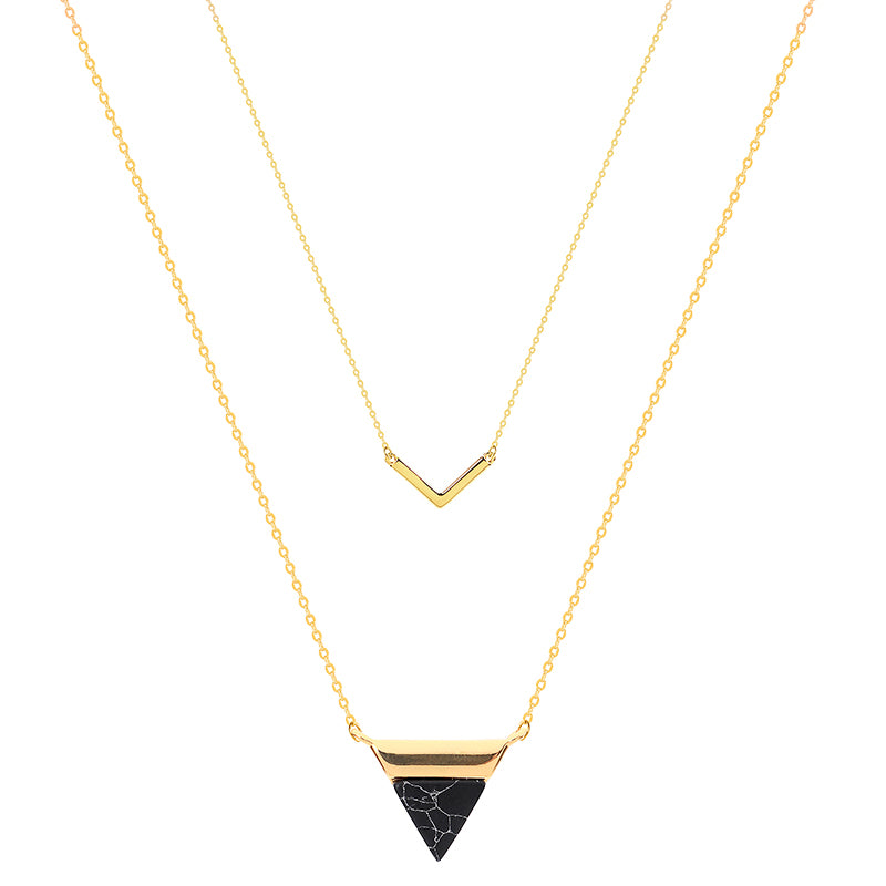 TRIANGLE & V CHOKER | 18K GOLD PLATED