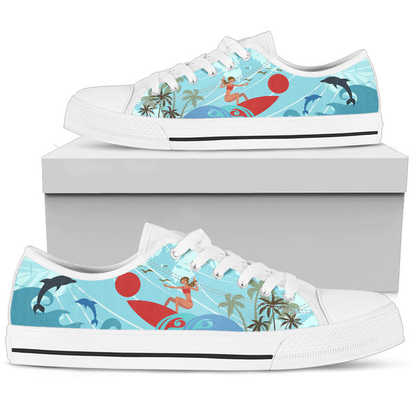 Surfing Men's Low Top Shoes