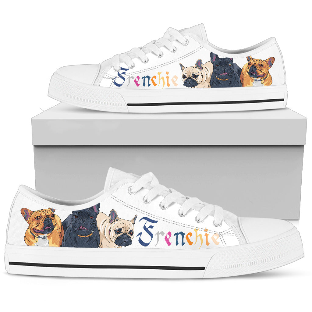 French Bulldog Men's Low Top Shoes