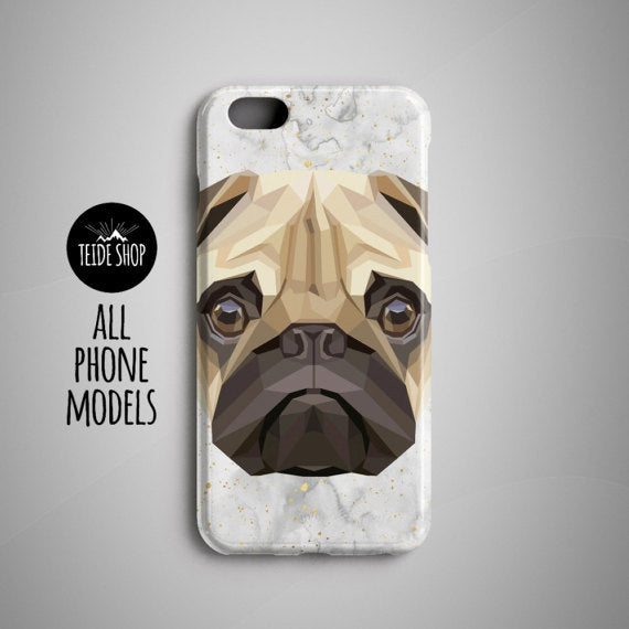 Geometric Pug iPhone 8 Plus Case iPhone 8 Case iPhone 7 Case Phone Case iPhone 5S Case iPhone 6S Case iPhone 7 Plus Case Dog Gift Pet Gift
